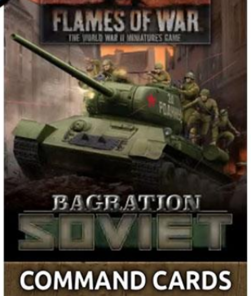 Flames Of War (WWII): Bagration - Soviet Command Cards (42 Cards)