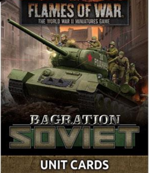 Flames Of War (WWII): Bagration - Soviet Unit Cards (67 Cards)