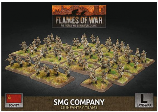 Flames Of War (WWII): (Soviet) SMG Company (x98 Plastic)