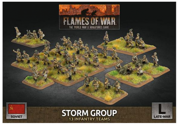 Flames Of War (WWII): (Soviet) Storm Group (x50 Plastic)