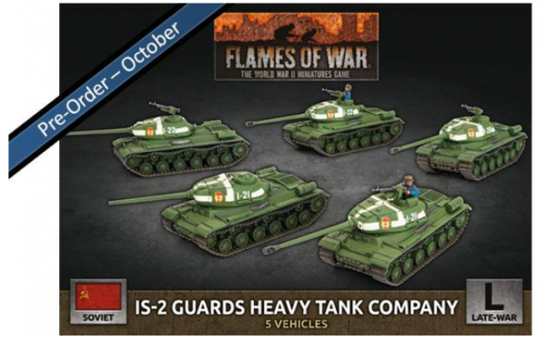 Flames Of War (WWII): (Soviet) IS-2 Guards Heavy Tank Company (x5 Plastic)