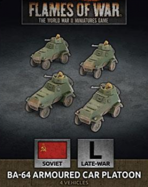 Flames Of War (WWII): (Soviet) BA-64 Armoured Car Platoon (x4 Plastic)