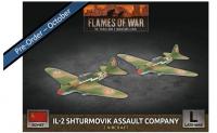 Flames Of War (WWII): (Soviet) IL-2 Shturmovik Assault Company (x2 Plastic)