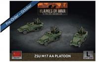 Flames Of War (WWII): (Soviet) ZSU M17 Anti-Aircraft Platoon (x3 Plastic)
