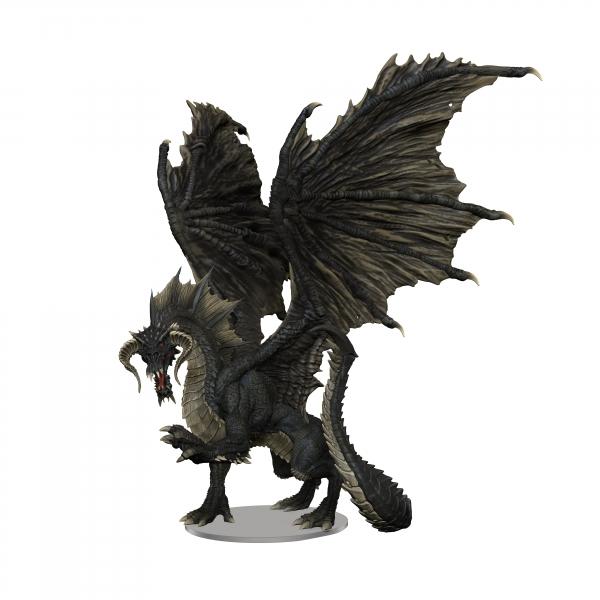 D&D Miniatures: Icons of the Realms Premium Miniatures - Adult Black Dragon