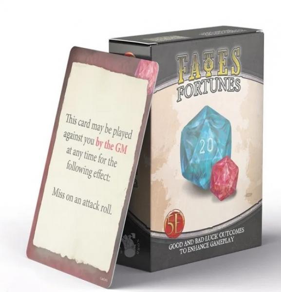 RPG Accessory: Fates & Fortunes Deck (5E)