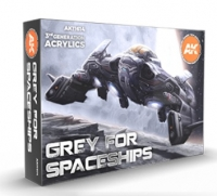 AK-Interactive: 3rd Gen Acrylics - Grey for Spaceships Paint Set