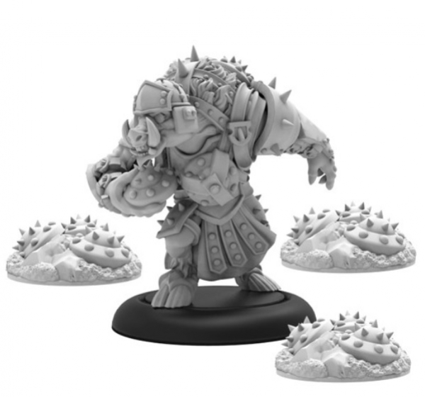 Hordes: (Minions) Farrow Sapper and Mines – Minion Solo (resin/metal)
