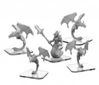 Monsterpocalypse: Stalkers and Draken Mystic – Draken Armada Unit (metal)