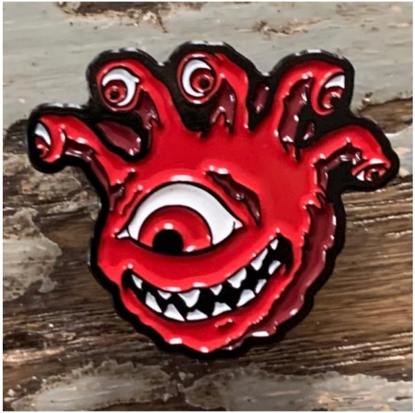 Creature Curation Enamel Pin: Eyegor – Red