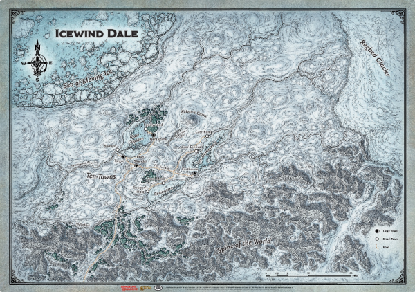 D&D: Icewind Dale Map (31'' x 21'')