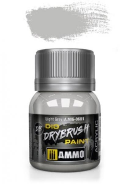 AMMO: Dio Drybrush Colors - Light Grey (40ml)