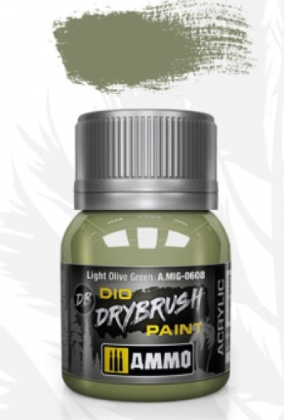 AMMO: Dio Drybrush Colors - Light Olive Green (40ml)