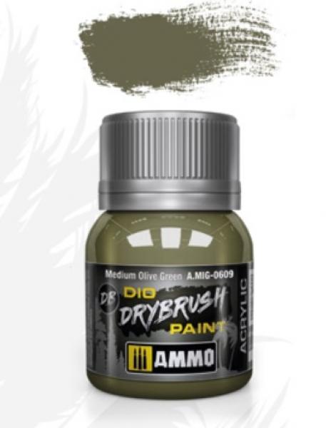 AMMO: Dio Drybrush Colors - Medium Olive Green (40ml)