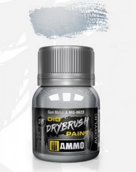 AMMO: Dio Drybrush Colors - Gun Metal (40ml)