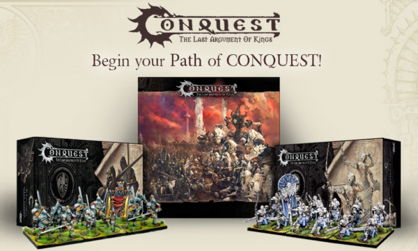 Conquest - Begin Your Path of Conquest - 2 Player Starter Set Bundle  (Core Set + Two Expansions!)