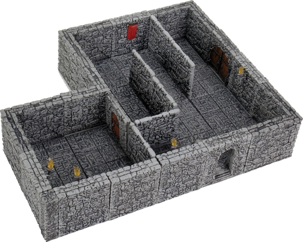 WarLock Dungeon Tiles: Dungeon Tiles II Full Height Stone Walls Expansion