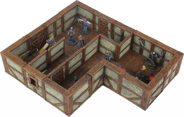 WarLock Dungeon Tiles: Town & Village II Full Height Plaster Walls Expansion