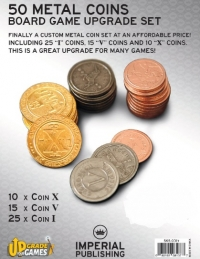 Board Game Accessories: 50 Metal Coins