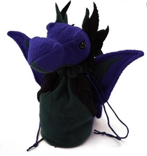 Dragon Bagons: Plush Dragon Dice Bag (Purple/Green)