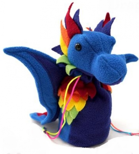 Dragon Bagons: Plush Dragon Dice Bag (Rainbow)