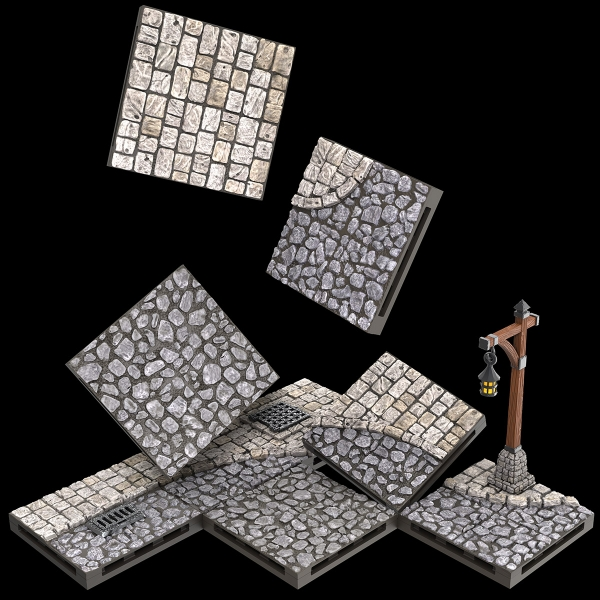 WarLock Dungeon Tiles: Town & Villages - Town Square