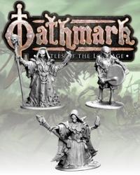 28mm Fantasy: (Oathmark) Necromancers & Skeleton Musician (3)