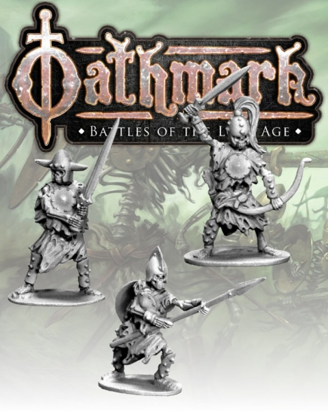 28mm Fantasy: (Oathmark) Skeleton Champions (3)