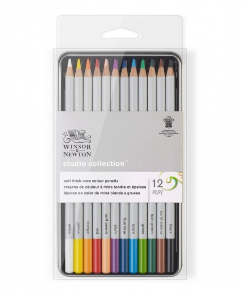 Winsor & Newton: Studio Collection Colour Pencil Tin (12pcs)