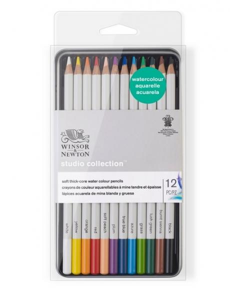 Winsor & Newton: Studio Collection Watercolour Pencil Tin (12pcs)