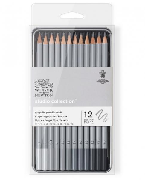 Winsor & Newton: Studio Collection Graphite Pencil Tin - Soft (12pcs)