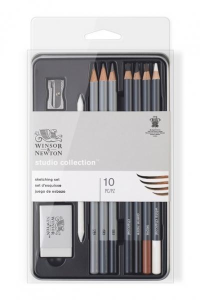 Winsor & Newton: Studio Collection Sketching Pencil Tin (7 shades)