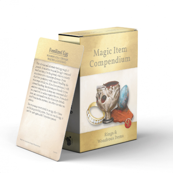 D&D: Magic Item Compendium Deck - Rings & Wondrous Items (5E)