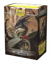 Dragon Shields: Standard Brushed Art - Valentine Dragons 2021 (100)
