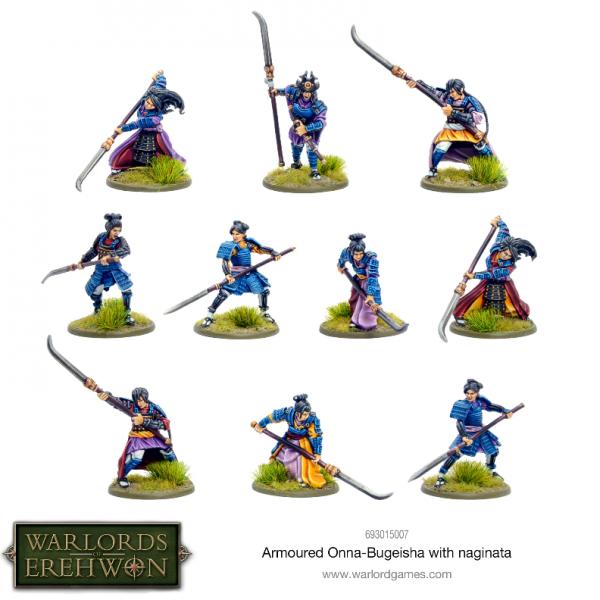 Warlords of Erehwon: Armoured Onna-Bugeisha with Naginata