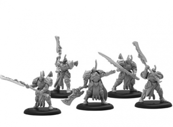 Warmachine: (Retribution Of Scyrah) House Ellowuyr Wardens – Retribution Unit (x5) (metal)