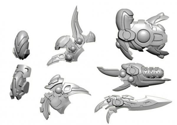 Warcaster: Daemon A Empyrean Weapon Pack (metal)