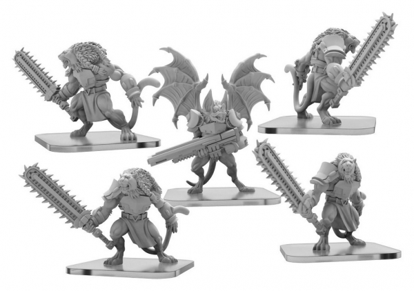 Monsterpocalypse: Slashers and Clicker – Legion of Mutates Unit (metal)