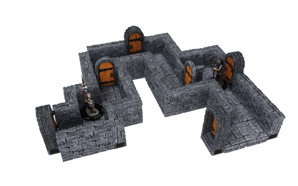 WarLock Dungeon Tiles: Expansion Pack - 1 in Dungeon Straight Walls