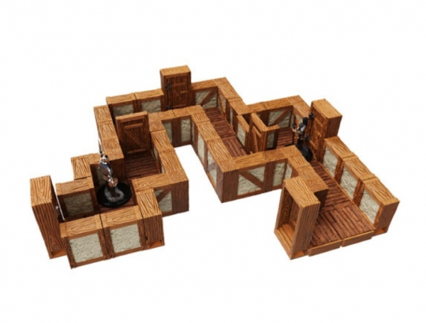 WarLock Dungeon Tiles: Towns & Village Tiles Expansion - One Inch Straight Walls
