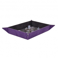 Suede Collection: Foldable Dice Rolling Tray - Amethyst
