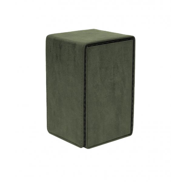Suede Collection: Alcove Tower Deck Box - Emerald