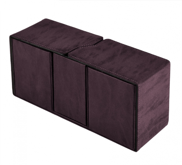 Suede Collection: Alcove Vault Deck Box - Amethyst