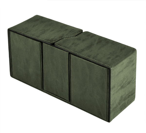 Suede Collection: Alcove Vault Deck Box - Emerald