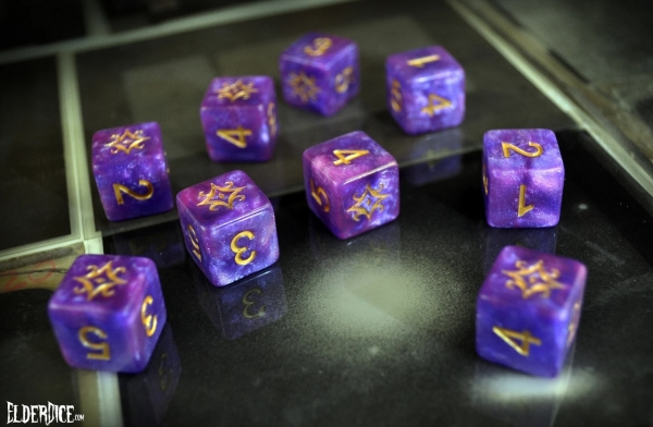 Elder Dice Set: Star of Azathoth Dice - Nebula d6 Set