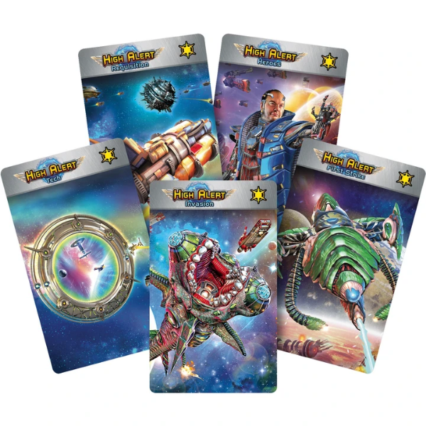 Star Realms: High Alert Card Dividers for Universal Storage Box