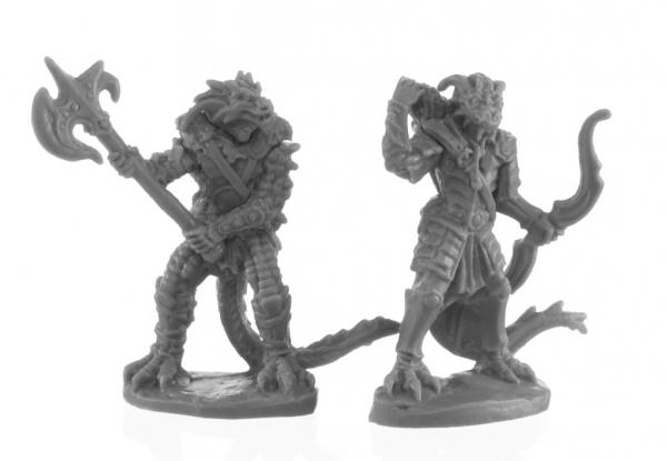 Reaper Bones Black: Dragonfolk Fighter and Ranger