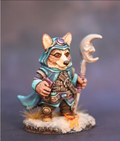 Critter Kingdoms: Corgi Mage with Staff