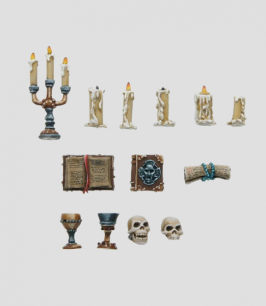 MaxMini: Candles, Books, Skulls (13pcs)