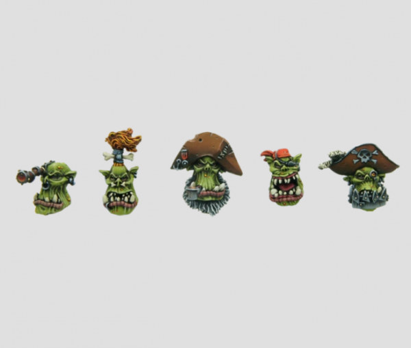 MaxMini: Pirate Orc Heads (5)